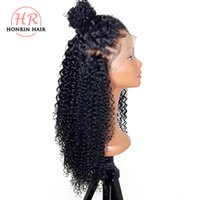 Honrin Hair Kinky Curly 360 Lace Wig Brazilian Virgin Human ...