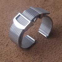 Ceinture en maille de haute qualité 20mm 22mm bracelet en acier inoxydable de remplacement bracelet en forme IWC requin bracelet bracelet montre-bracelet d'argent Mesh