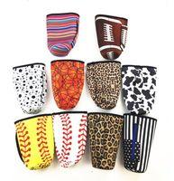 نيوبرين كأس غطاء البيسبول اللينة الصبار زجاجة المياه يغطي الحقيبة ليوبارد طباعة معزول كم حقيبة حقيبة ل 30 أوز بهلوان GGA3027-2