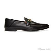 Designer piatto scarpe da uomo casual autentica vacchetta fibbia di lusso donne di velluto vestito di cuoio scarpe metallo Travolgere pigro dimensioni scarpe da barca 41-42-46