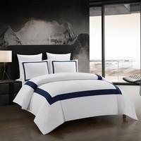Kurze Bettwäsche Set Geometrische Bettwäsche Stitching Tröster Bettwäsche-Doppelbett Luxus Bettbezug-Set