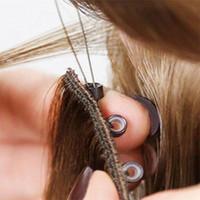 VM Vierge Brésilien Micro Bague Extensions de cheveux Micro Link Perles Human Hair Extension Silky Kératine Fusion Ombre Rouge Blonde