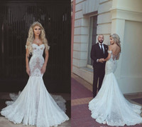 2019 vestito da sposa piena pizzo sirena fuori dalla spalla lungo giardino paese chiesa sposa abito da sposa su misura