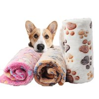 Pet Blanket Winter-Hundekatze-Bett Fuß-Druck Warmer Schlafmatratze Small Medium Hunde Katzen Coral Fleece Pet Supplies