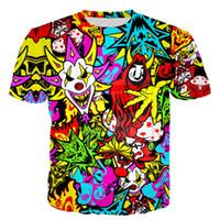 3D Printed T-shirt più nuovi Insane Clown Posse breve estate del manicotto casuale stile delle parti superiori della camicia T del O-Collo T maschio DX026