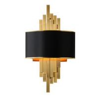أضواء LUXURY جدار غرفة المعيشة مع أسود مصباح غرفة نوم الغلاف PVC مع الظل الكتان الشمعدان للمنزل الإضاءة في الأماكن المغلقة