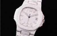 5719 montre de lujo diamante del reloj tachonada Cal.324 SC movimiento mecánico automático relojes plegable relojes de diseño de hebilla