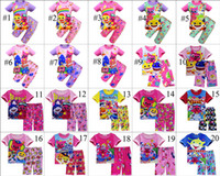 20 Colors Kids Summer Clothing Sets Baby Shark Short Sleeve ...