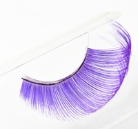 False Eyelashes Handmade Purple Green Fake Lashes for Stage ...