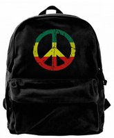 Rasta Peace and Love Canvas Shoulder Backpack Cute Backpack ...