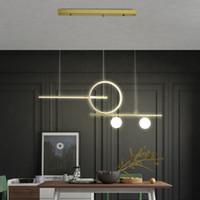 Nueva llevada moderna lámpara de techo para salón comedor cocina sala de luces colgantes luminaria negro suspendu / lámpara de techo blanco / oro