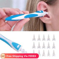 نظافة الأذن 16 نصائح استبدال مجموعة earpick سهلة الشمع المزيل دوامة سمس السمع الصحية أدوات التموين الرعاية