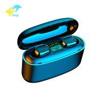 Vitog의 G5 TWS 3500mah LED 블루투스 무선 이어폰 헤드폰 이어폰 TWS 터치 컨트롤 스포츠 헤드셋은 소음 방수 헤드폰을 취소