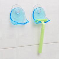 Razor plástico rack Copa de succión baño titular Razor máquina de afeitar de almacenamiento en rack de baño Organizador Para OOA7661 Ducha