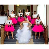 Plus Size Vestidos dama Africano Jewel curto mangas cobertas Com Lace Applique Convidado de Casamento Vestidos Voltar Zipper na altura do joelho vestido de festa