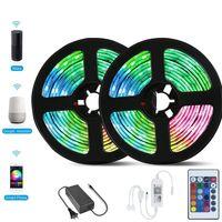 CRESTECH 5050 striscia di RGB LED Controller Wifi luce 5M 60led m Neon impermeabile nastro flessibile Ribbon Striscia di adattatore di alimentazione 12V +