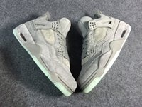 New Men 4S tênis de basquete 4 Formadores frescos luxuosa da Grey Athletic Shoes Sports melhor qualidade Sneakers Com Box