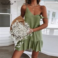Nadafair Short Casual Summer Beach Dress Women Sexy Off Shou...