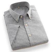 남성 캐주얼 셔츠 Aoliwen 브랜드 여름 짧은 셔츠 비치 하와이 코튼 & 린넨 단색 슬리브 2021 비즈니스