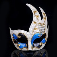 Wedding Party Venetian Mask Personality Flame Crack Men Mask...