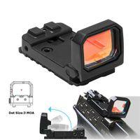 Vism Flip Reflex Red Dot Pistol Sight RMR Mini Folding Holografisk syn för Airsoft