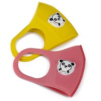 Симпатичные Рот маска с Panda Форма Дыхание Valve Anti-пыли Дети Дети сгущает Губка лица Рот маска загрязнения РМ2,5 Респиратор маска RRA3105