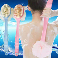 Whosale Bath Brush Bathroom Assessories Soft Hair Long Handl...