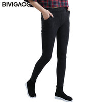 98d32a7a344c0f Bivigaos Women's Slanting Pocket Washed Jeans Leggings Pencil Pants Elastic  Denim Leggings Skinny Jeans Jeggings Women Trousers Y19042901
