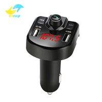 Vitog M9 차량용 키트 핸즈프리 블루투스 무선 FM 송신기 LCD MP3 플레이어 USB 충전기 2.1A의 지원 TF USB