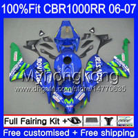 Injection Body + Tank per HONDA CBR1000 RR CBR 1000 RR 2006 2007 276HM.38 CBR 1000RR Movistar Blue hot 06-07 CBR1000RR 06 07 Kit carenature OEM