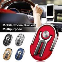 Универсальный многоцелевой мобильный телефон владельца автомобиля Air Vent ручки стойки Маунт Rotation палец кольцо держатель кронштейн для iPhone Xiaomi