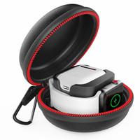 Apple Watch and Airpods 용 충전 스탠드, 방수 하드 보호 휴대용 여행 케이스 충전기 도크 IWATCH 시리즈 1 2 3 4 5