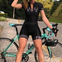 2019 Pro Team Triathlon 슈트 여성의 짧은 소매 사이클링 저지 스킨 슈트 Jumpsuit Maillot 사이클링 Ropa Ciclismo 세트 젤 055