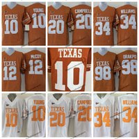 Vintage Texas Longhorns College Football Jerseys 10 Vince Young 34 Ricky Williams 20 Earl Campbell 98 Brian Orakpo 12 Colt McCoy Shirt