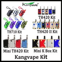 100% Vorlage Kangvape TH710 TH710 TH420 V1 TH420 II V2 Mini 420 K Box Mod Kit mit 0,5 ml Keramik Coil Cartridge Authentic