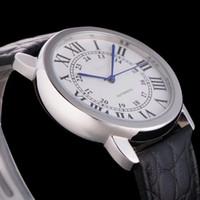 Adam için üst satmak otomatik izle, lüks İzle mekanik İzle paslanmaz saatler çelik kol deri kayış 056