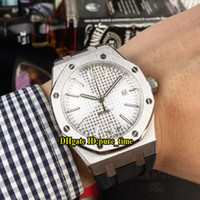 New Royal Date 15400 15400ST White Dial Asian 2813 Automatic...