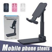 Dobrável Detentor de telemóvel ajustável Desk flexível stand Compatiable com iPhone Para Smartphone Android 11 XR XS Pro Max com Retail Box