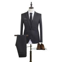 Mens Blazer Suit Slim Fit Man Ternos Blazer Mens Wedding Moda Hot Sale terno para os homens do noivo vestido Plus Size Wedding