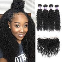 Indian Hair Extensions Yaki Straight With Lace Frontal Closu...
