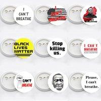 Ben Broş Siyah Hayatlar Matter Parade Broş George Floyd Trump ABD Bayrağı Pin Badge Parti Favor RRA3144 14styles NEFES CAN NOT