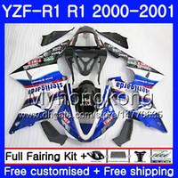 Kropp för Yamaha YZF 1000 YZF R 1 YZF-1000 Stock Blue Hot YZFR1 00 01 Ram 236HM.35 YZF-R1 00 01 Bodywork YZF1000 YZF R1 2000 2001 Fairing
