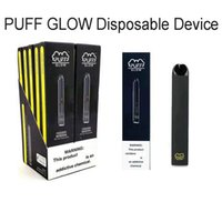 Disponibile pre-riempite usa e getta E-sigarette Puff Bar Glow monouso Dispositivo Pod Starter Kit vaporizzatore penna 1.4ml Luce Pod LED con codice