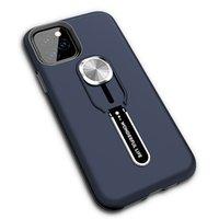 Sağlam zırh standı hibrid telefon kılıfları ile taşınabilir parmak yüzük iphone 12 pro 7 8 artı 11 Samsung Not 10 S10 S10E A70 A50