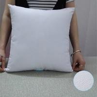 1 unids todos los tamaños de algodón funda de almohada de sarga Sólido Blanco Natural Funda de almohada Funda de cojín en blanco Perfecto Para Crafters Transferencia de Calor de vinilo HTV