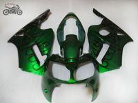 Kawasaki Ninja ZX12R 2000 2001 ZX 12R 00 01 녹색 도로 레이싱 바디 부품