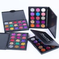 Sıcak Cmaadu Elmas Glitter Göz Farı 15 Renkler Göz Farı Makyaj Paleti Sequins Parlak Glitter Göz Makyaj