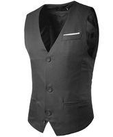 Giubbotto tascabile falso uomo maschile senza maniche che abbinano design a colori cintura monopetto in cotone slim fit per uomo gilet festa di nave libera