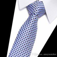 넥타이 높은 패션 격자 무늬 넥타이 남성 슬림 면화 넥타이 남성 gravatas 100 % 실크 넥타이 스키니 7.5 센치 메터 꽃
