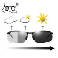 Sun Glasses fotossensíveis óculos polarizados Chameleon Lente de Homens Amarelo para Night Driving Pesca Polaroid Moda Masculina aro